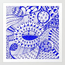 Leander Blue Art Print