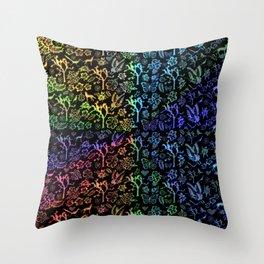 Joshua Tree Arco Iris by CREYES Throw Pillow