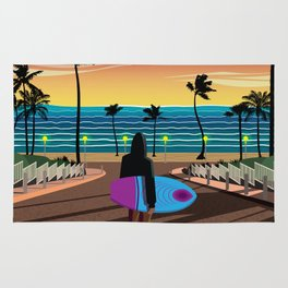California dreaming Rug