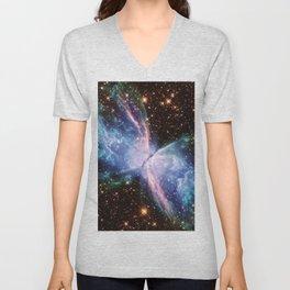 Butterfly Nebula 2 Unisex V-Neck