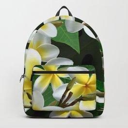 Plumeria Flowers Backpack