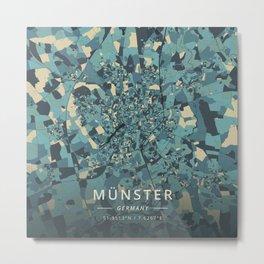 Munster, Germany - Cream Blue Metal Print