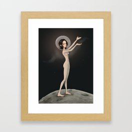 Galactic Girl Framed Art Print