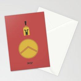 300, minimal movie poster,  Frank Miller, Zack Snyder, Gerard Butler, graphic novel Stationery Cards