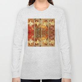 "Alphonse Mucha ""The Gem Series - Ruby, Amethyst, Emerald, Topaz"" Long Sleeve T-shirt"