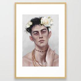 flower crown K Framed Art Print