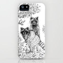 Raccoons in the Garden iPhone Case