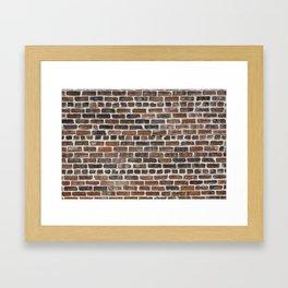 Old Brick Wall Framed Art Print