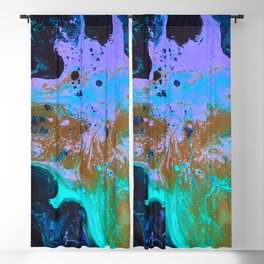 Ultra Violet Abstract Bat Painting by Noora Elkoussy Blackout Curtain
