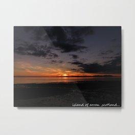 sunset over arran,scotland. Metal Print
