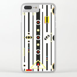 Punky retro graphic Clear iPhone Case