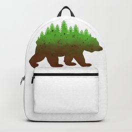 Grizzly Bear Nature Forest Watercolor Wildlife National Parks Art Backpack