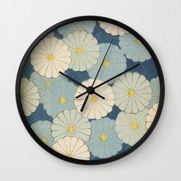 Japanese Vintage Flowers Wall Clock