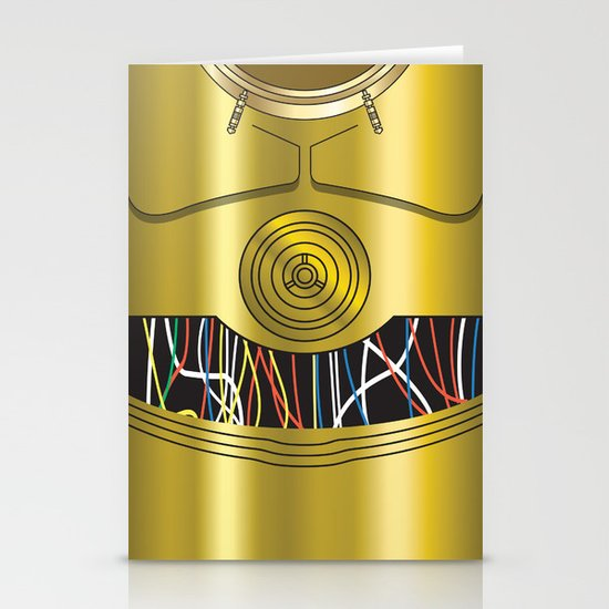 Star Wars C3PO Vector Stationery Cards