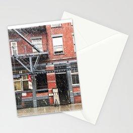 Snowy day in NoLita Stationery Cards