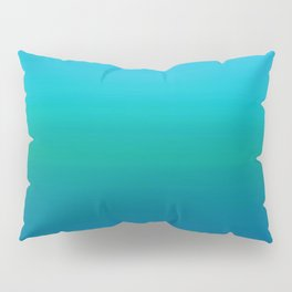 Ombre, Blue to Teal Pillow Sham