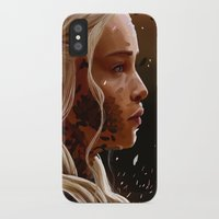mother of dragons iPhone & iPod Cases featuring Mother of dragons by cloudyh