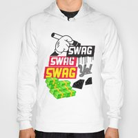 swag Hoodies featuring SWAG by Mr. Magenta
