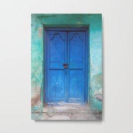 Blue Indian Door Metal Print
