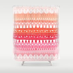 Triangle Gradient Pink Mix Shower Curtain