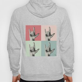 """I love you"" Vintage in sign language Hoody"