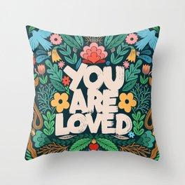 you are loved - color garden Throw Pillow