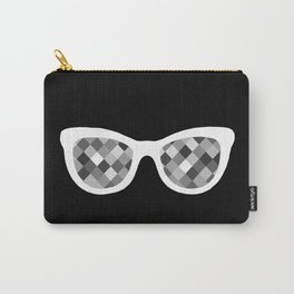 Diamond Eyes White on Black Carry-All Pouch