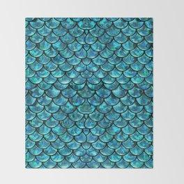 Mermaid Scales Design Throw Blanket