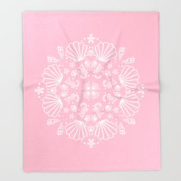 PinkMermaid Throw Blanket