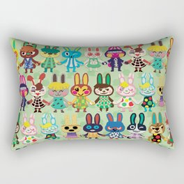 Rabbit Crossing Rectangular Pillow
