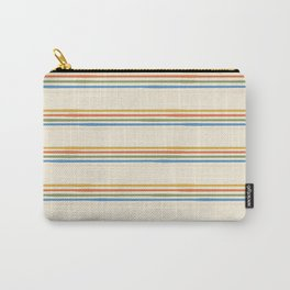 Seventies Stripe in Blushy Cream Carry-All Pouch