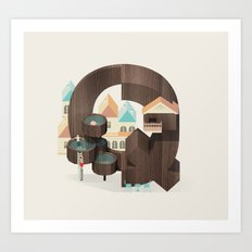 Resort Type - Letter Q Art Print
