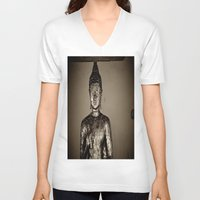 meditation V-neck T-shirts featuring Meditation by Joëlle
