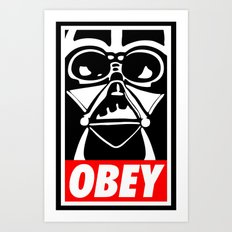 Obey Darth Vader - Star Wars Art Print