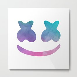 Marshmello Face Metal Print