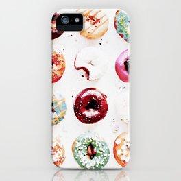 watercolor doughnuts iPhone Case