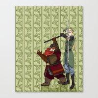 legolas Canvas Prints featuring Legolas & Gimli by mothroot