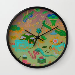 Chinese Ombre Pattern Wall Clock