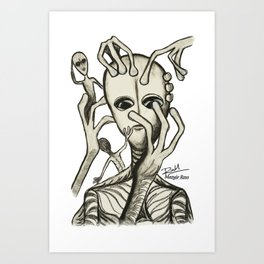 Alien Prod - Mazuir Ross Art Print