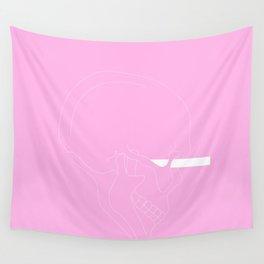LINE #Skull (Pink) Wall Tapestry