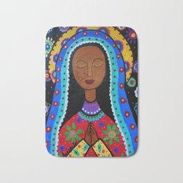 Mexican Folk Art Virgin Guadalupe Painting Bath Mat