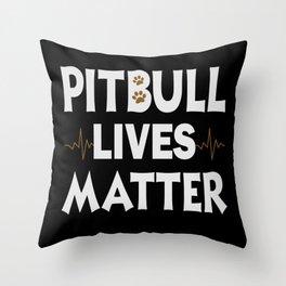 Dogs Pitbulls Pitbulls Pitbull Clothing Dog Stops Throw Pillow