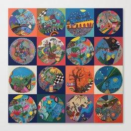 Bolitas de colores Canvas Print