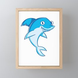 Shark Animal Framed Mini Art Print