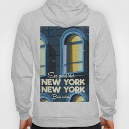 New York Vintage cartoon travel poster Hoody