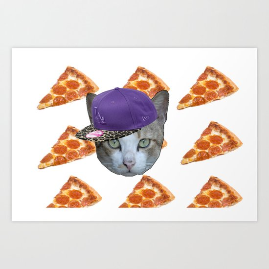Pizza Cat Art Print