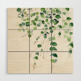 Eucalyptus Watercolor Wood Wall Art