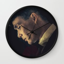 Peaky Blinders, Cillian Murphy, Thomas Shelby, BBC Tv series, gangster family Wall Clock