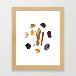 a Spell for Clear Skin Framed Art Print