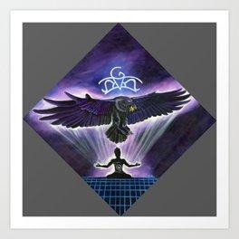 Sovereign Raven Art Print